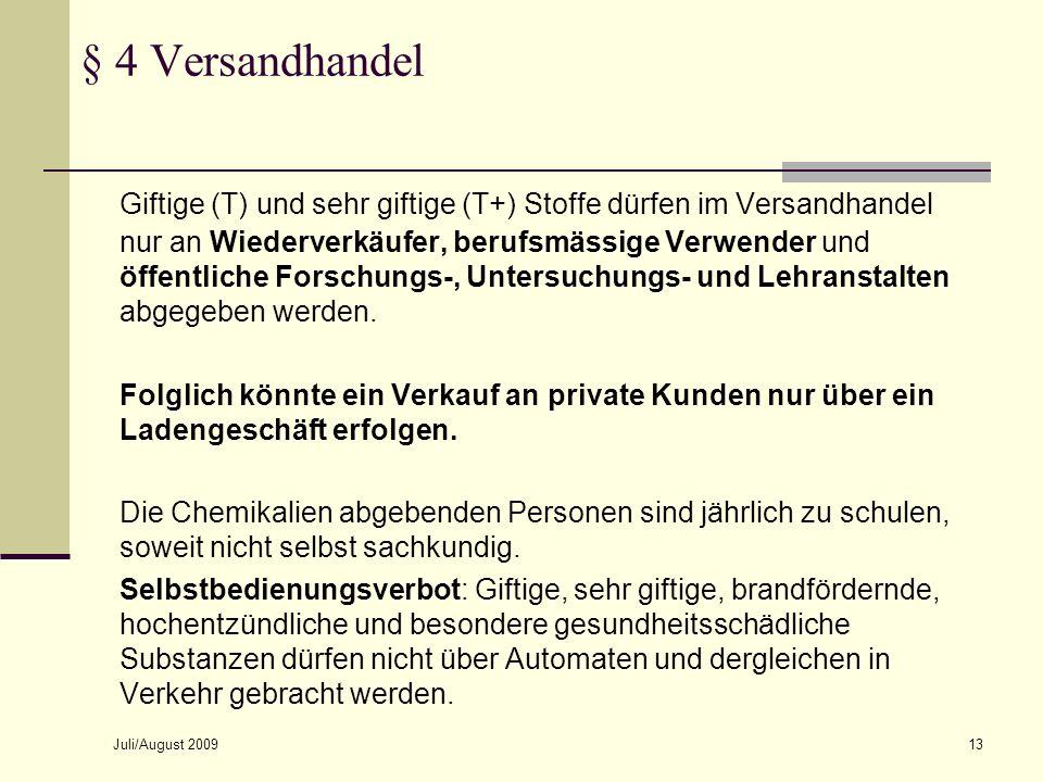 § 4 Versandhandel October 8, 2007.