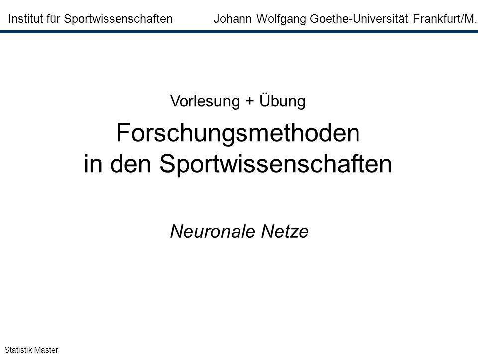 in den Sportwissenschaften