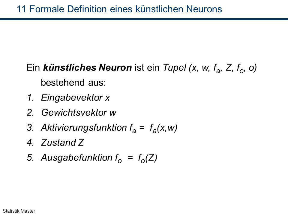 Formale Definition eines künstlichen Neurons