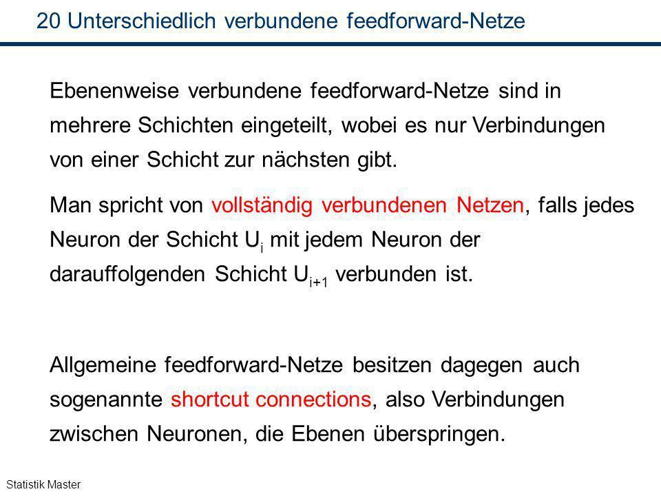 Unterschiedlich verbundene feedforward-Netze