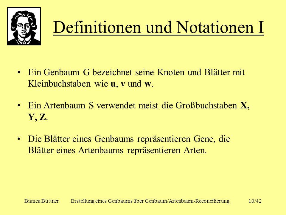 Definitionen und Notationen I