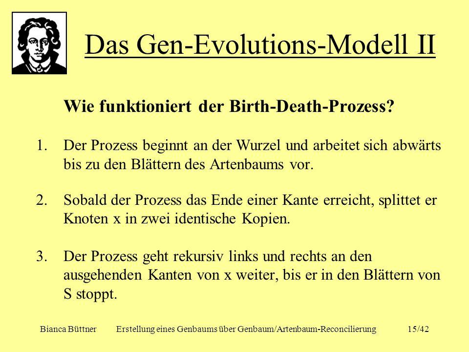 Das Gen-Evolutions-Modell II