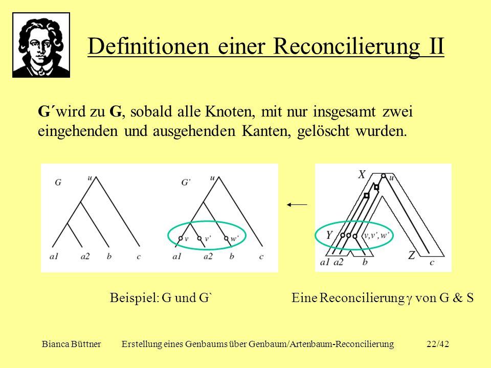 Definitionen einer Reconcilierung II