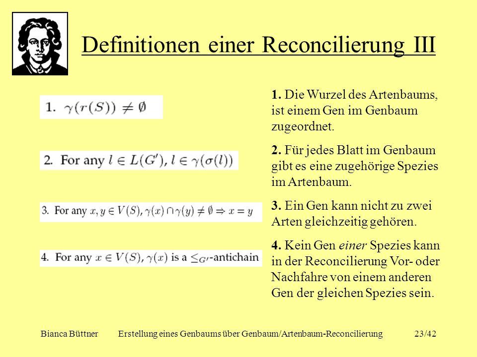 Definitionen einer Reconcilierung III