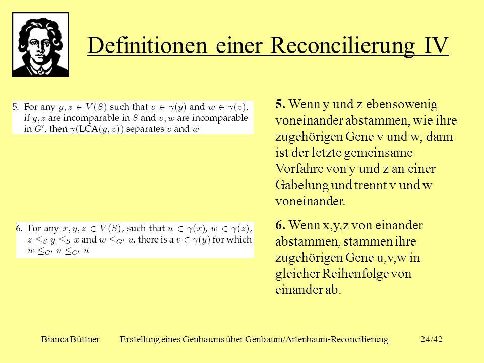 Definitionen einer Reconcilierung IV