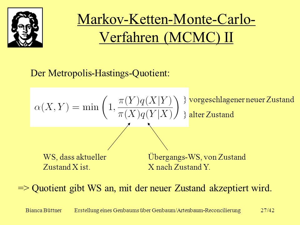 Markov-Ketten-Monte-Carlo-Verfahren (MCMC) II