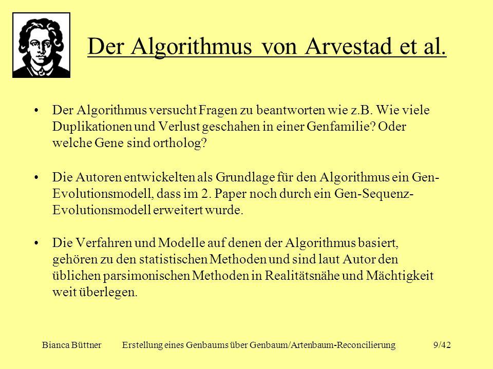 Der Algorithmus von Arvestad et al.
