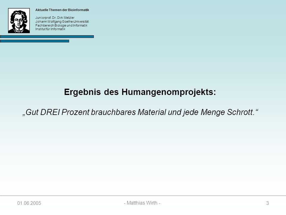 Ergebnis des Humangenomprojekts: