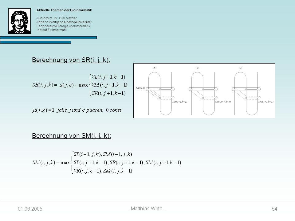 Berechnung von SR(i, j, k):