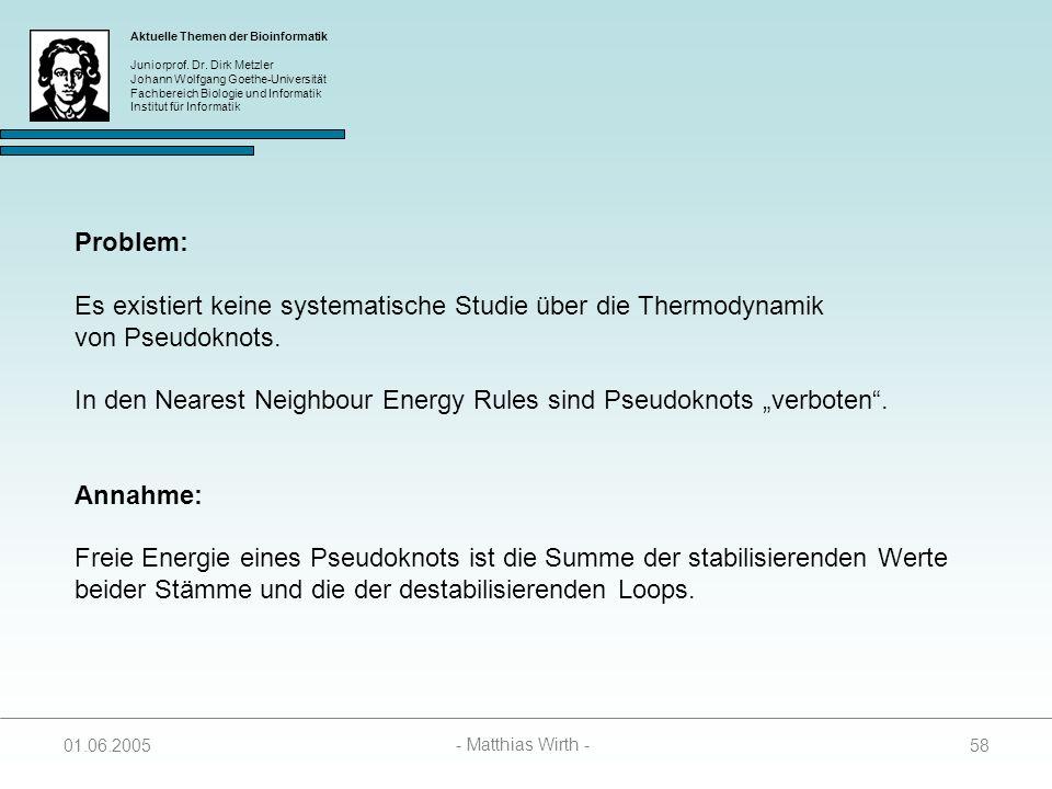 Es existiert keine systematische Studie über die Thermodynamik