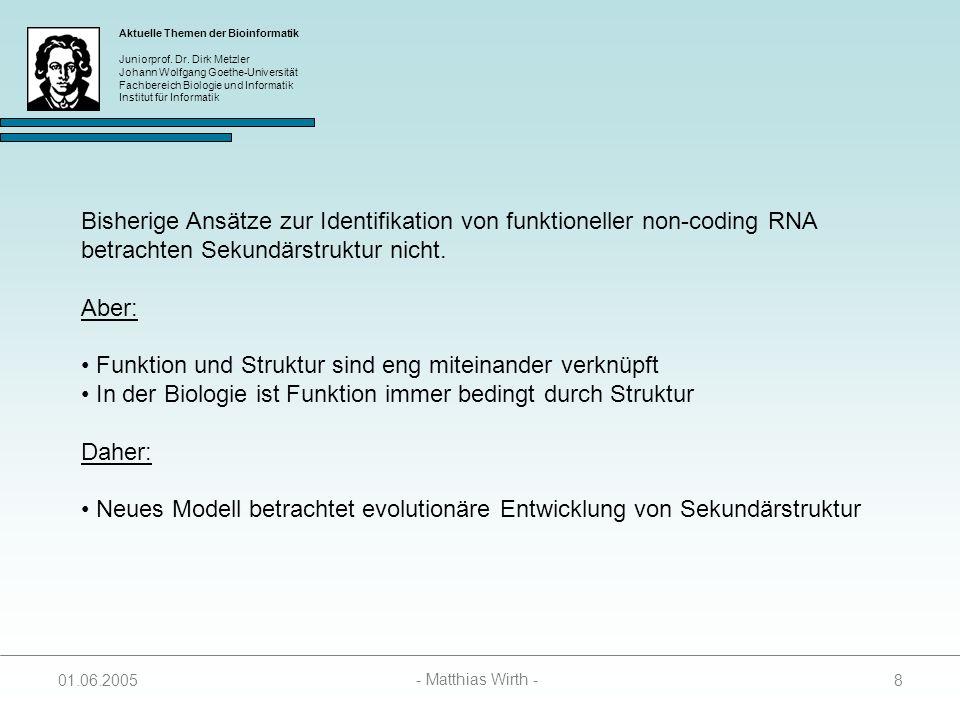 Bisherige Ansätze zur Identifikation von funktioneller non-coding RNA