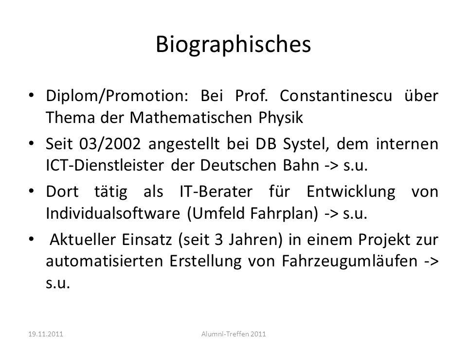 Biographisches Diplom/Promotion: Bei Prof. Constantinescu über Thema der Mathematischen Physik.
