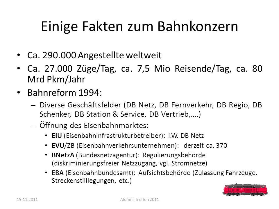 Einige Fakten zum Bahnkonzern