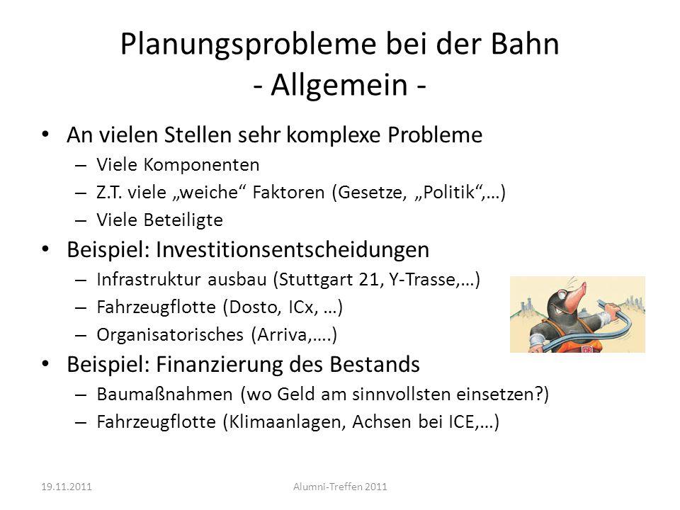Planungsprobleme bei der Bahn - Allgemein -