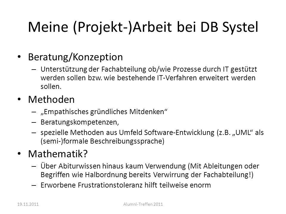 Meine (Projekt-)Arbeit bei DB Systel