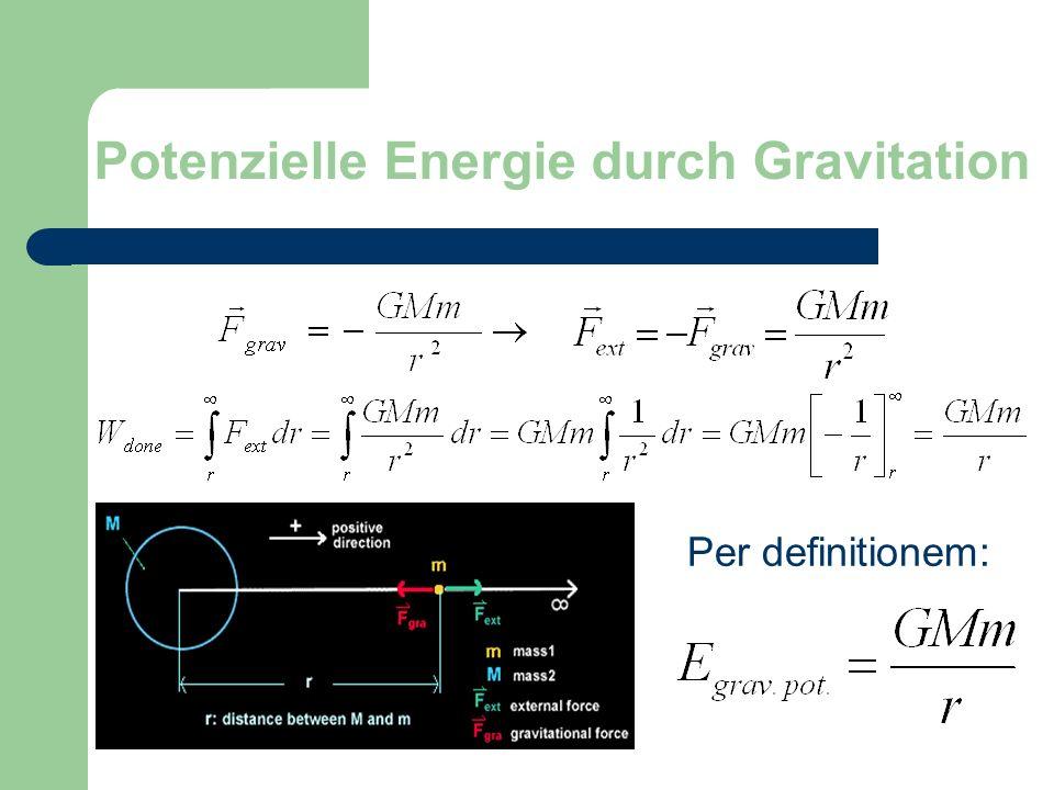 Potenzielle Energie durch Gravitation