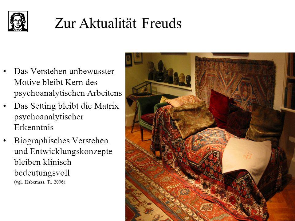 Zur Aktualität Freuds Das Verstehen unbewusster Motive bleibt Kern des psychoanalytischen Arbeitens.