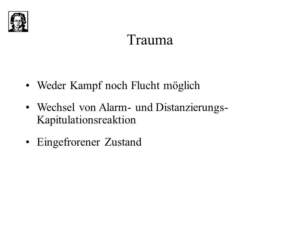 Trauma Weder Kampf noch Flucht möglich