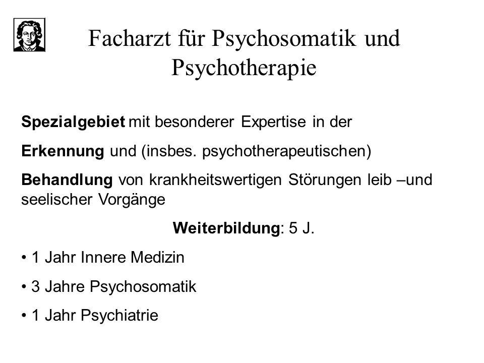 Facharzt für Psychosomatik und Psychotherapie