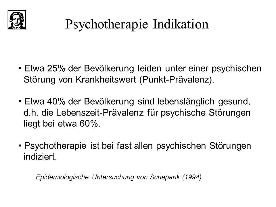 Psychotherapie Indikation