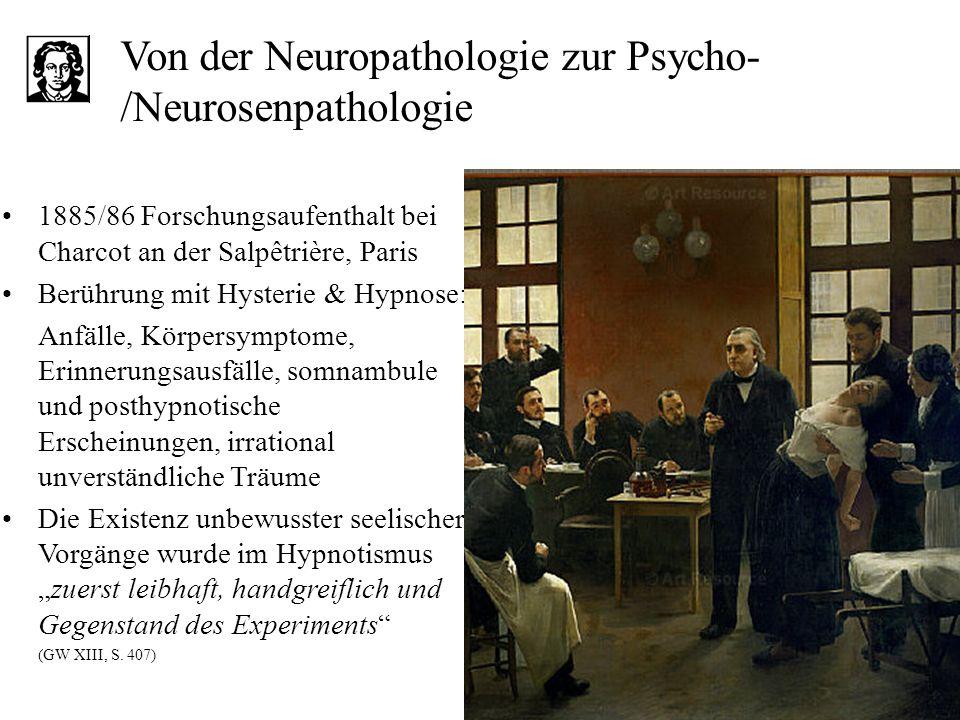 Von der Neuropathologie zur Psycho-/Neurosenpathologie