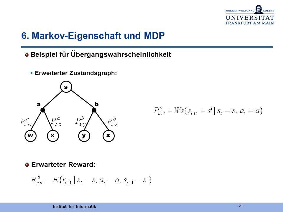 6. Markov-Eigenschaft und MDP