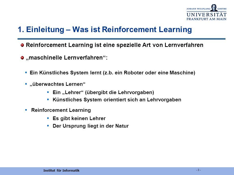1. Einleitung – Was ist Reinforcement Learning