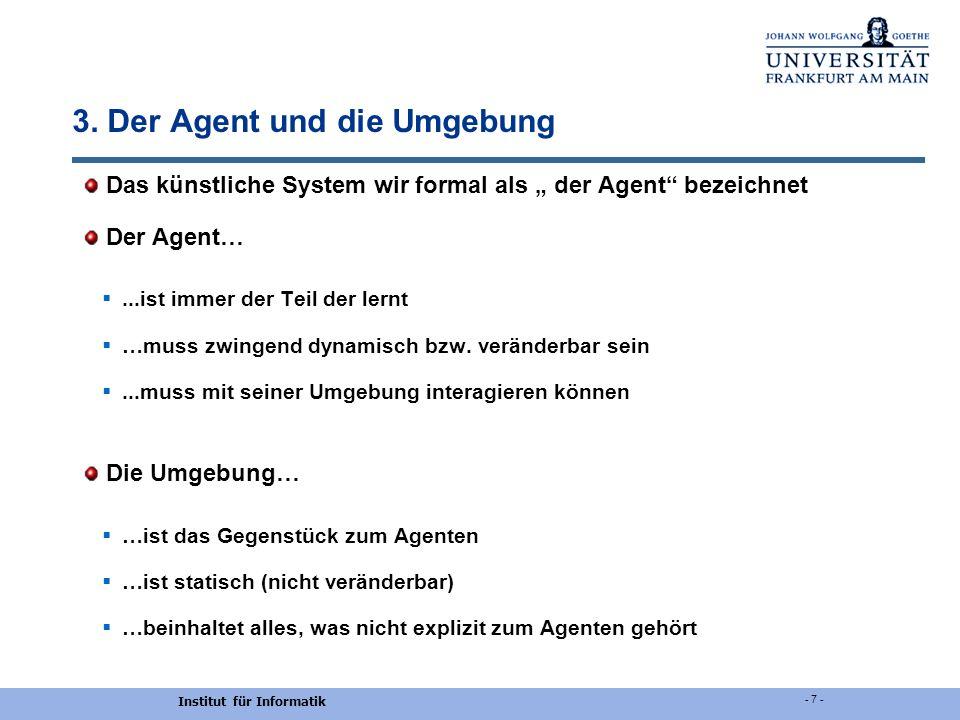 3. Der Agent und die Umgebung
