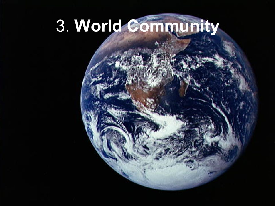 3. World Community