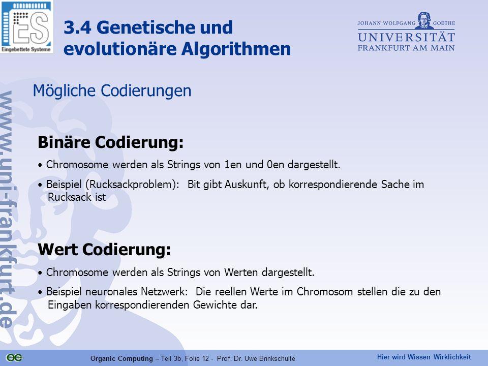 Organic Computing – Teil 3b, Folie 12 - Prof. Dr. Uwe Brinkschulte