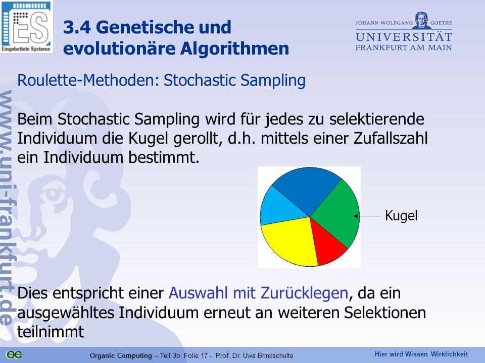 Organic Computing – Teil 3b, Folie 17 - Prof. Dr. Uwe Brinkschulte