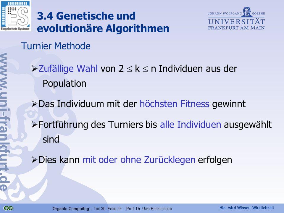 Organic Computing – Teil 3b, Folie 29 - Prof. Dr. Uwe Brinkschulte