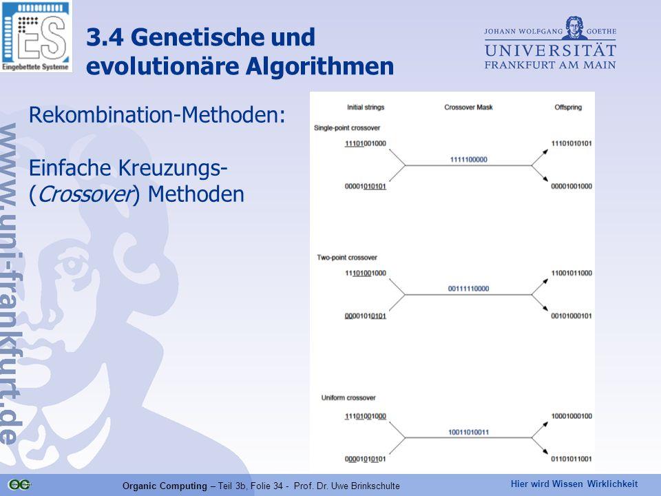 Rekombination-Methoden: Einfache Kreuzungs- (Crossover) Methoden