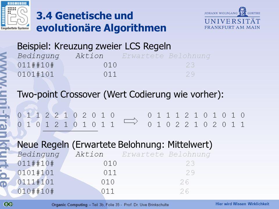 Organic Computing – Teil 3b, Folie 35 - Prof. Dr. Uwe Brinkschulte