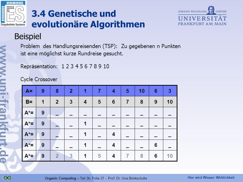 Organic Computing – Teil 3b, Folie 37 - Prof. Dr. Uwe Brinkschulte