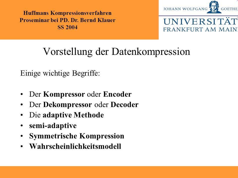 Vorstellung der Datenkompression