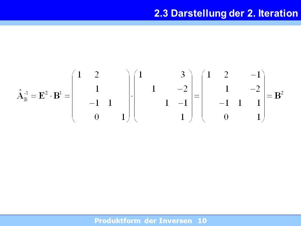 2.3 Darstellung der 2. Iteration