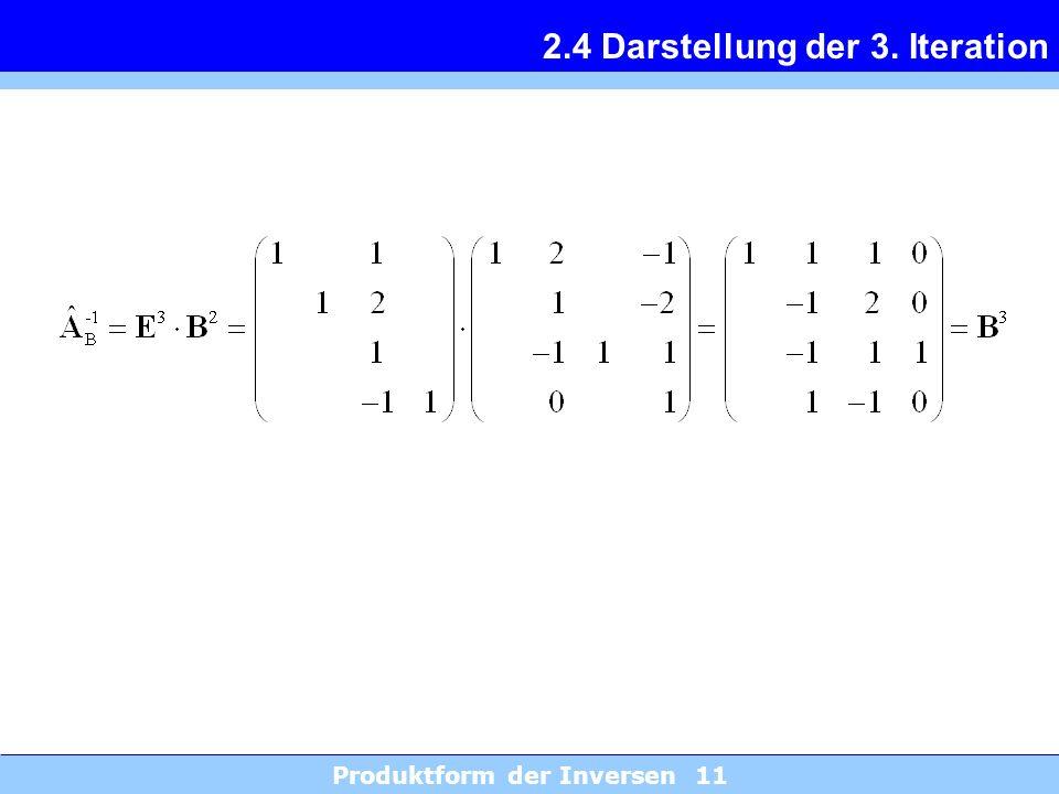 2.4 Darstellung der 3. Iteration