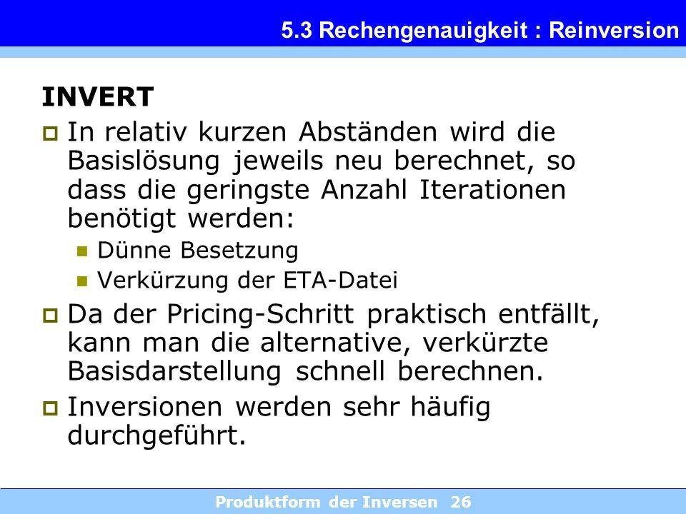 5.3 Rechengenauigkeit : Reinversion