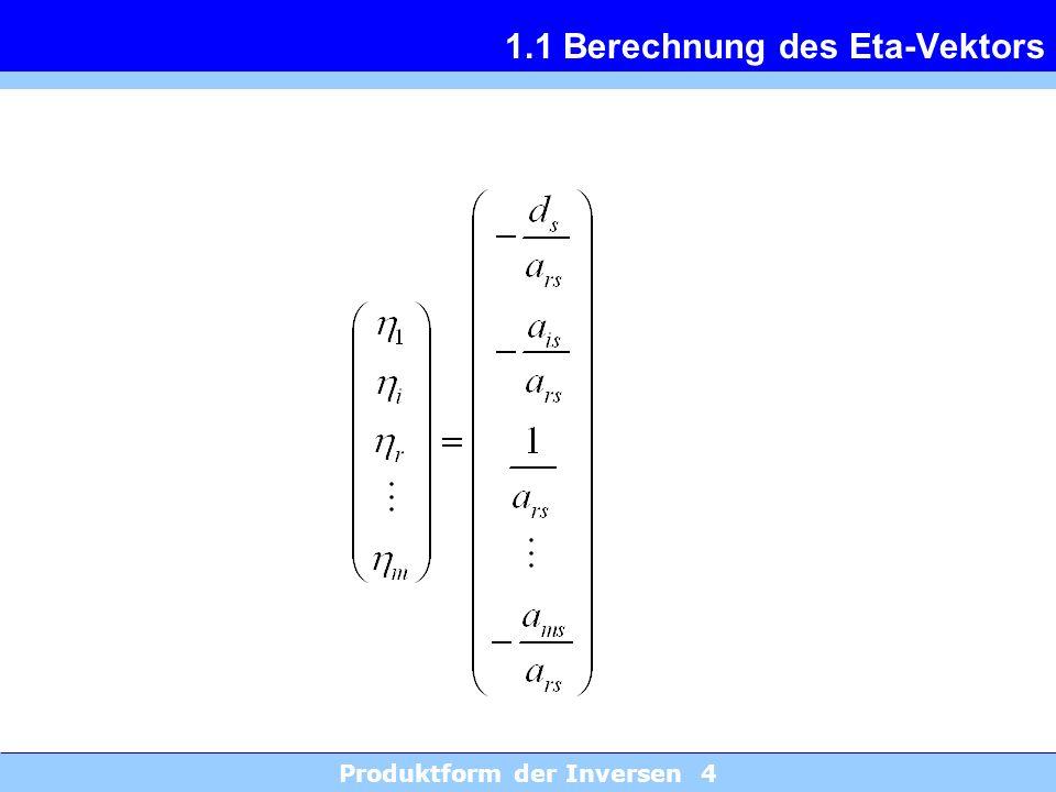 1.1 Berechnung des Eta-Vektors