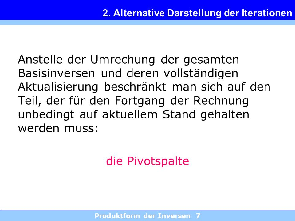 2. Alternative Darstellung der Iterationen