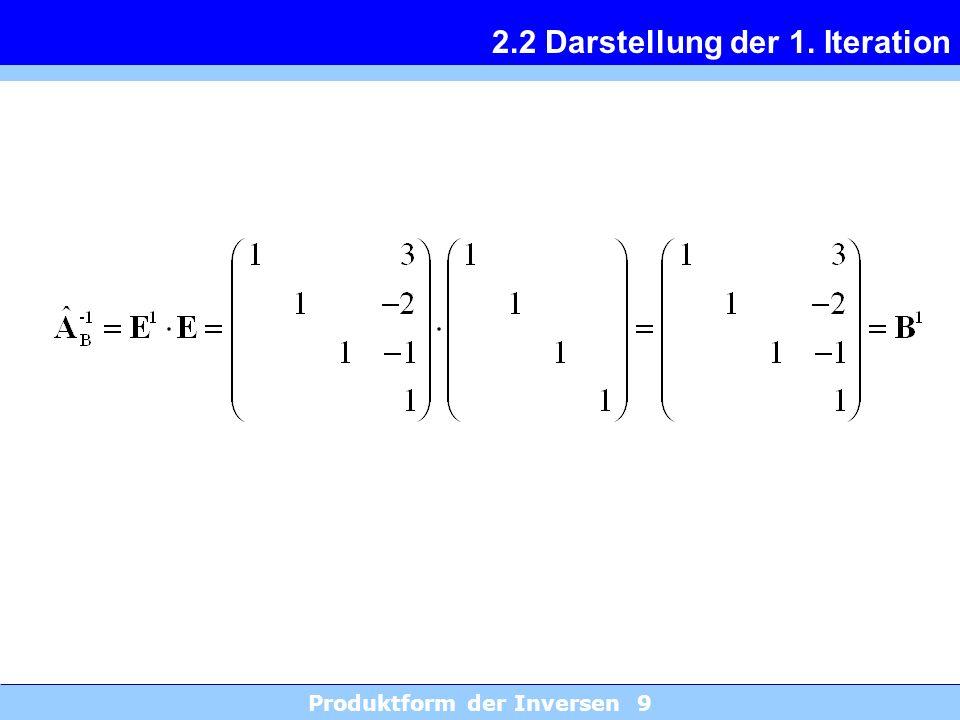 2.2 Darstellung der 1. Iteration