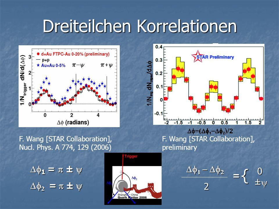Dreiteilchen Korrelationen