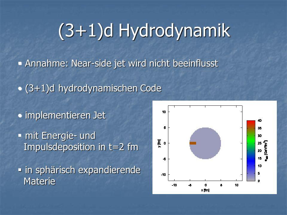 (3+1)d Hydrodynamik Annahme: Near-side jet wird nicht beeinflusst