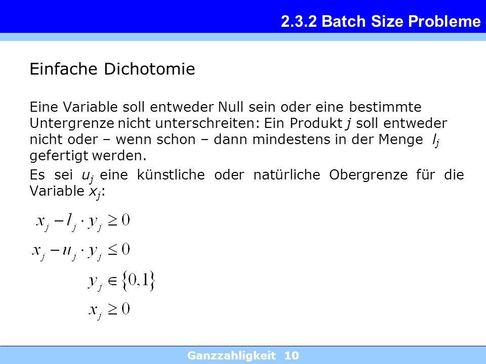 2.3.2 Batch Size Probleme Einfache Dichotomie