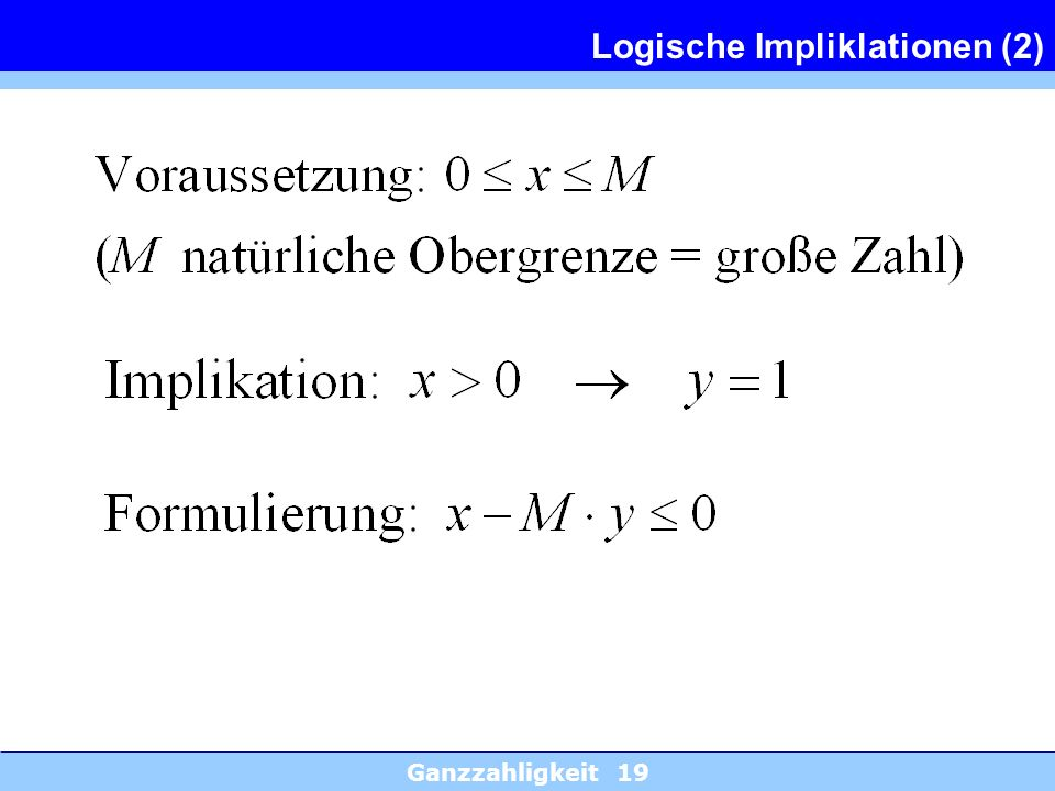 Logische Impliklationen (2)