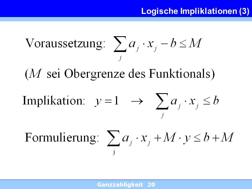 Logische Impliklationen (3)