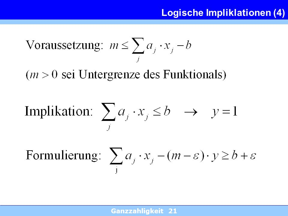 Logische Impliklationen (4)