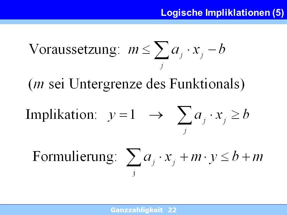 Logische Impliklationen (5)