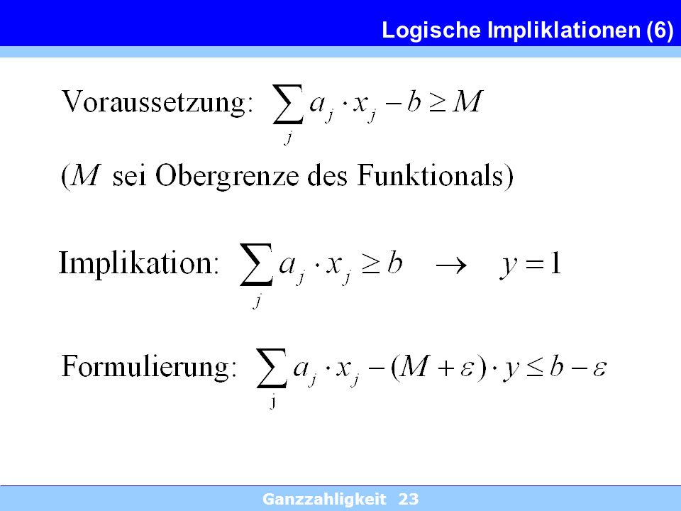 Logische Impliklationen (6)